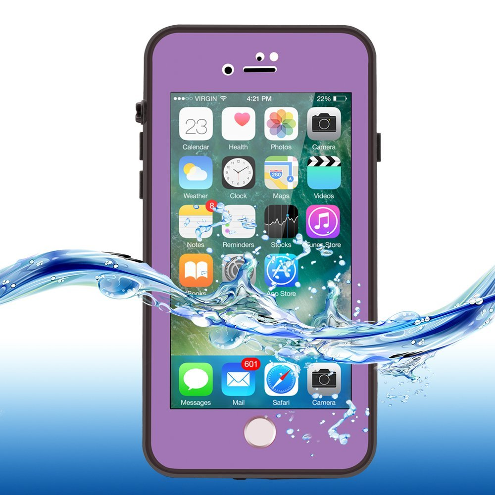 san francisco c3613 3c070 ImpactStrong iPhone 7 Waterproof Case [FingerPrint ID Compatible] Slim Full  Body Protection for Apple iPhone 7 (4.7 inch) - Purple