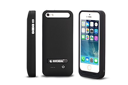 RIVENDAL-2400mAh-External-Protective-Battery-Case-For-Apple-iPhone-5-iPhone-5S-iPhone-5C-Black-B00OROXC5A