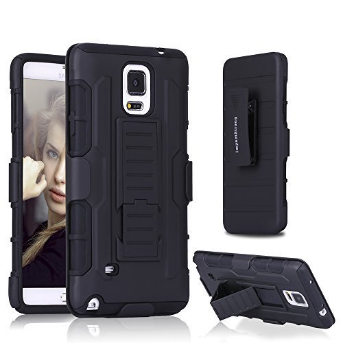 Samsung-Note-4-Case-ImpactStrong-BeltClip-Kickstand-Samsung-Galaxy-Note-4-Dual-Layer-Holster-Cover-with-Locking-B-B016AZDOFQ